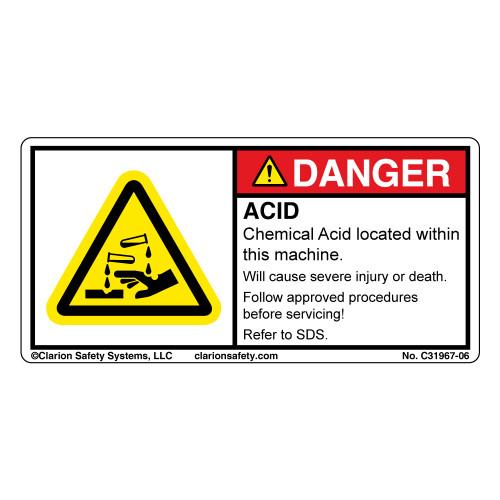 Danger/Acid (C31967-06)