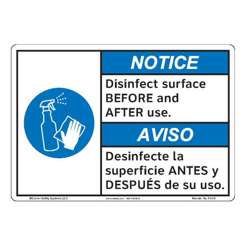 Notice/Disinfect Surface (F1370-)