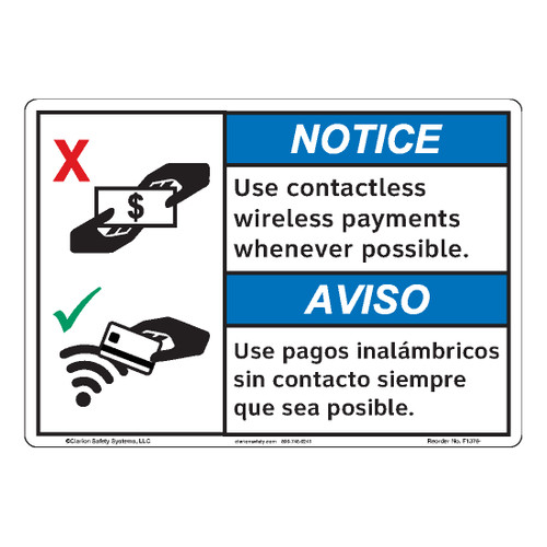 Notice/Use Contactless (F1376-)