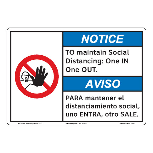 Notice/To Maintain Social (F1387-)