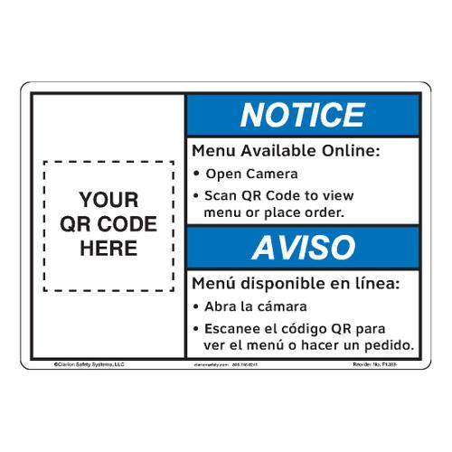 Notice/Scan QR Code (F1388-)