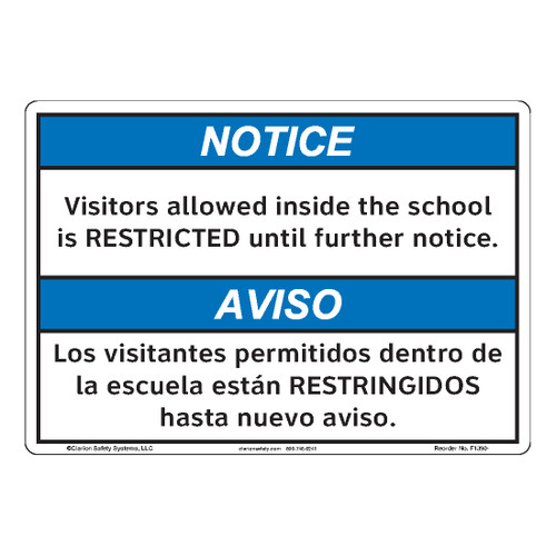 Notice/Visitors Allowed Inside (F1390-)
