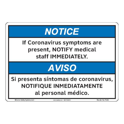 Notice/If Coronavirus Symptoms (F1392-)