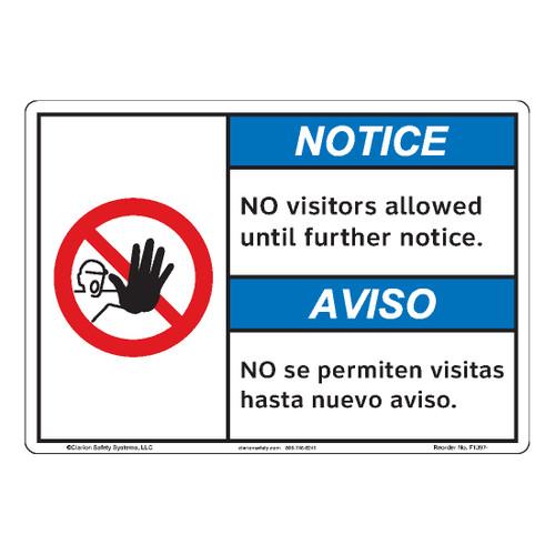 Notice/No Visitors Allowed (F1397-)