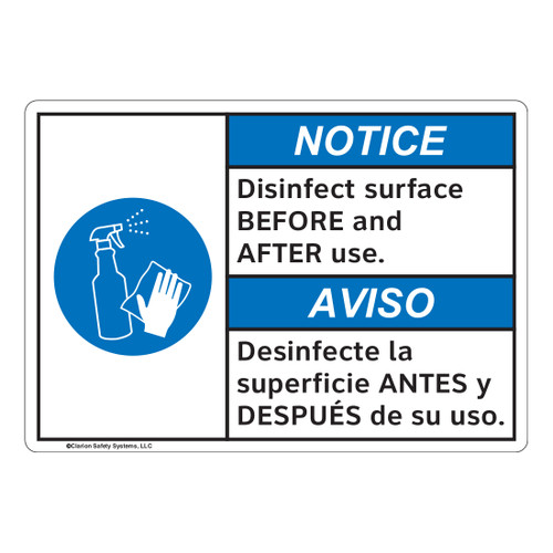 Notice/Disinfect Surface (FL1119-)