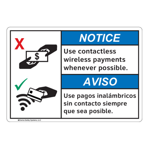 Notice/Use Contactless (FL1124-)