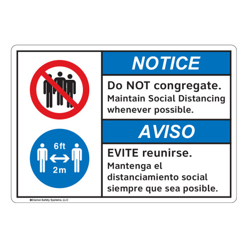 Notice/Do Not Congregate (FL1126-)