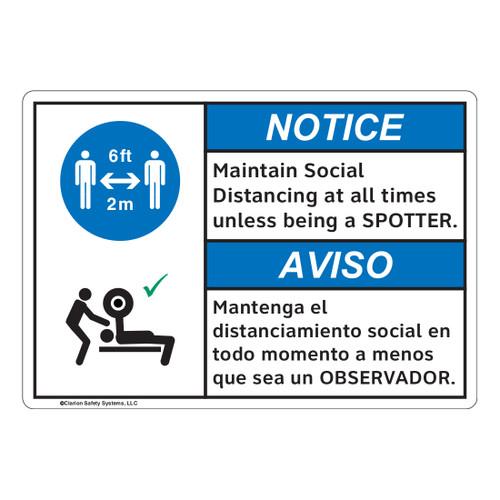 Notice/Maintain Social Distancing (FL1127-)