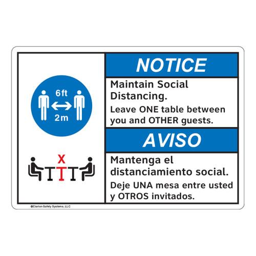 Notice/Maintain Social Distancing (FL1129-)