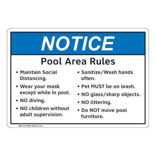 Notice/Pool Area Rules (FL1131-)