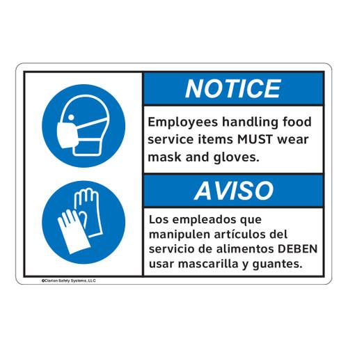 Notice/Employees Handling Food (FL1137-)