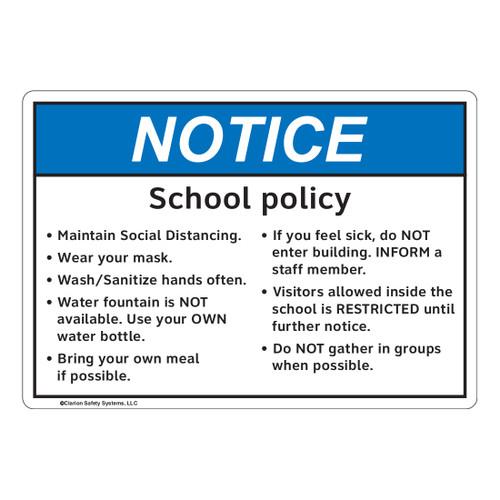 Notice/School Policy (FL1139-)