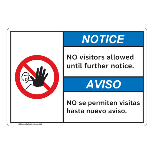 Notice/No Visitors Allowed (FL1145-)