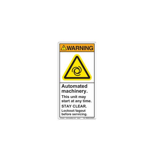 Warning/Automated Machinery (H6045-GCWVPJ)
