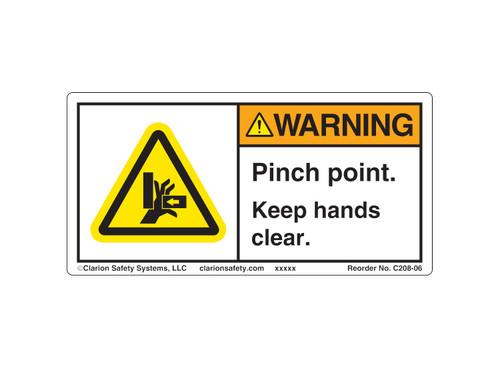Warning/Pinch Point (C208-06)
