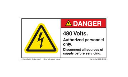 Danger/480 Volts (H6010-D19DHPJ)
