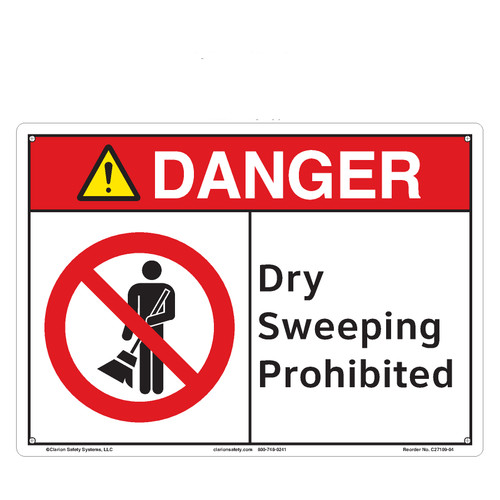 Danger/Dry Sweeping Prohibited (C27109-04)