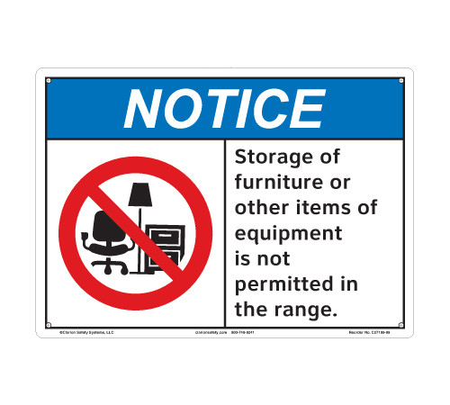 Notice/Storage of Furniture or Other Items (C27109-09)