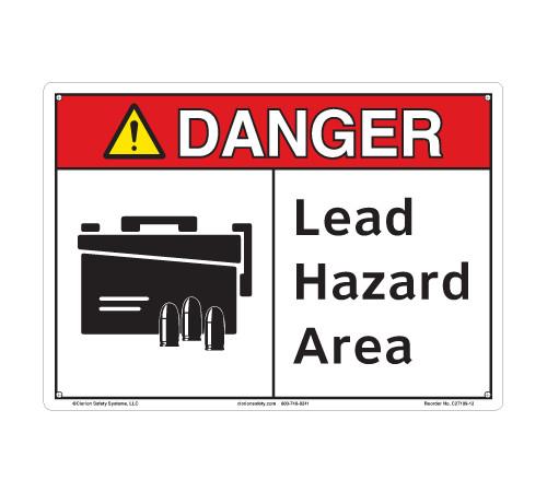 Danger/Lead Hazard Area (C27109-12)