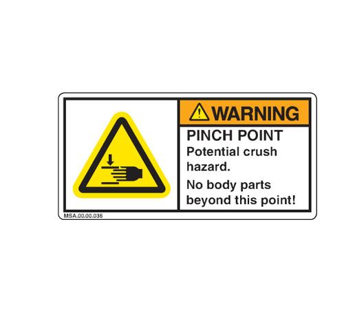 Warning/Pinch Point (MSA.00.00.036)