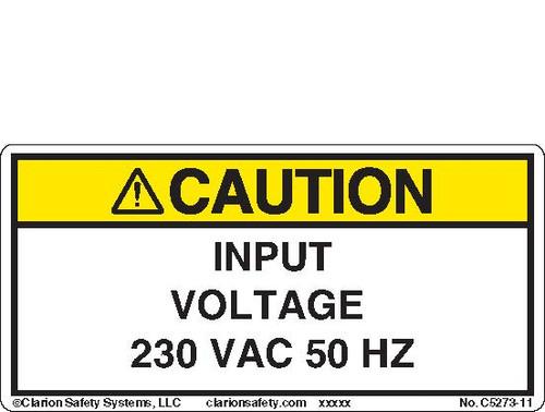 Caution/Input Voltage (C5273-11)