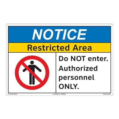 Notice/Restricted Area Floor Marker (FM104-)