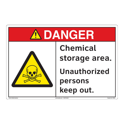 Danger/Chemical Storage Floor Marker (FM106-)