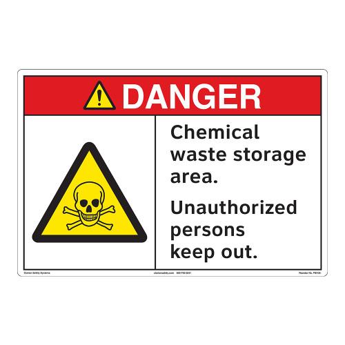 Danger/Chemical Waste Storage Floor Marker (FM108-)