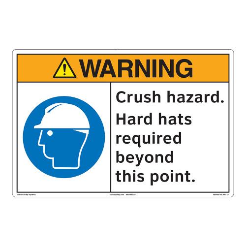 Warning/Crush Hazard Floor Marker (FM118-)