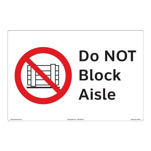 Do NOT Block Aisle Floor Maker (FM124-)