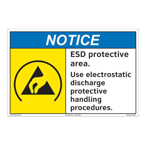 Notice/ESD Protective Area Floor Marker (FM130-)