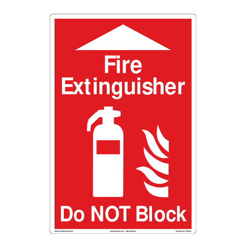 Fire Extinguisher/Do NOT Block Floor Marker (FM136-)