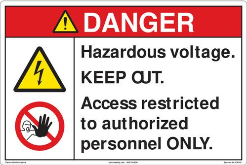 Danger/Hazardous Voltage Floor Marker (FM142-)