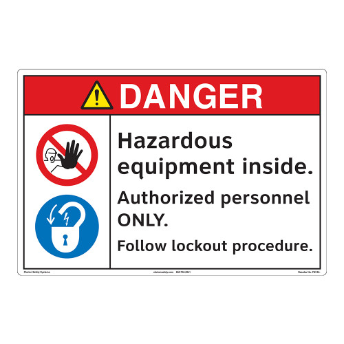 Danger/Hazardous Equipment Floor Marker (FM146-)