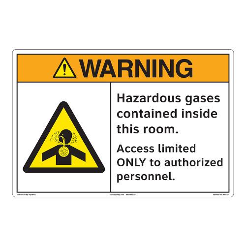 Warning/Hazardous Gases Floor Marker (FM148-)