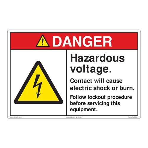 Danger/Hazardous Voltage Floor Marker (FM150-)