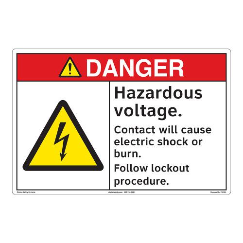 Danger/Hazardous Voltage Floor Marker (FM152-)