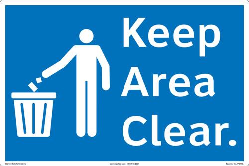 Keep Area Clear Floor Marker (FM156-)