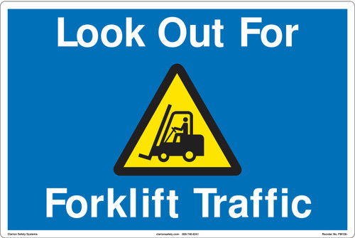 FM158- Look Out For Forklift Floor Marker