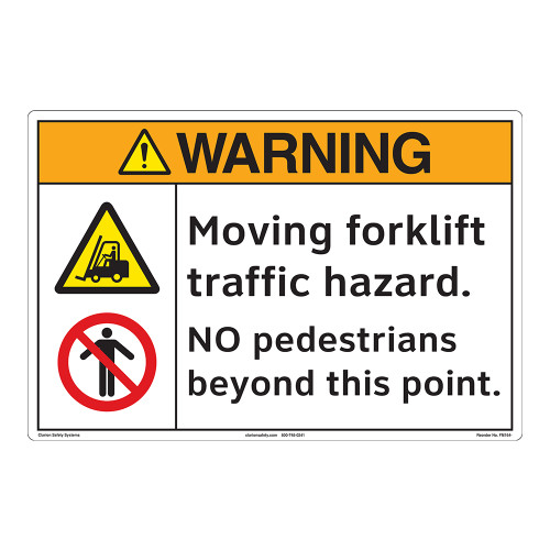 Warning/Moving Forklift Floor Marker (FM164-)