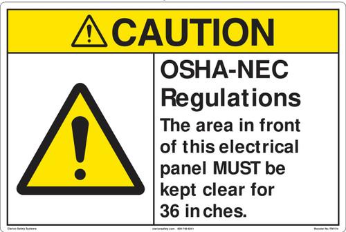 Caution/OSHA/NEC regulations Marker (FM174-)