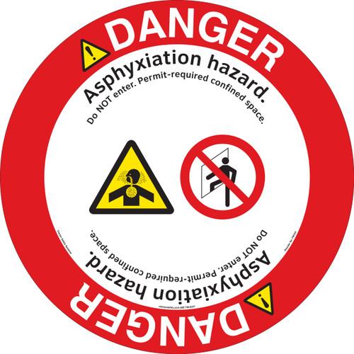 Danger/Asphyxiation Floor Marker (FM103-)