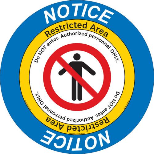 Notice/Restricted Area Floor Marker (FM105-)