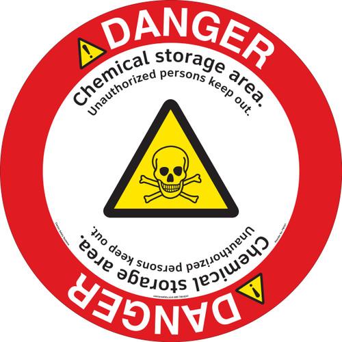 Danger/Chemical Storage Floor Marker (FM107-)