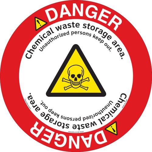 Danger/Chemical Storage Floor Marker (FM109-)