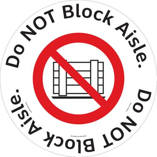 Do NOT Block Aisle Floor Maker (FM125-)