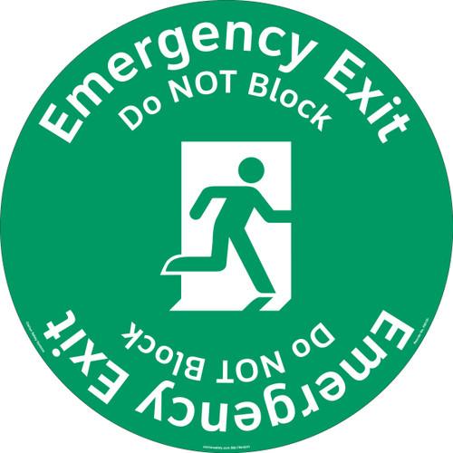 Emergency Exit/Do NOT Block Floor Marker (FM135-)