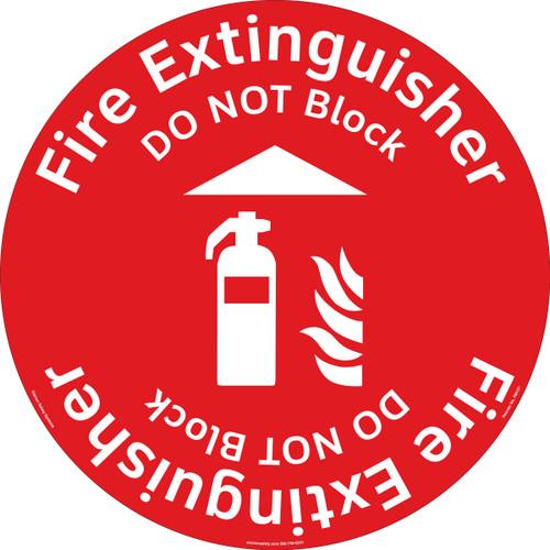 Fire Extinguisher/Do NOT Block Floor Marker (FM137-)