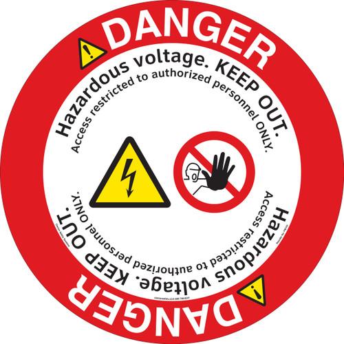 Danger/Hazardous Voltage Floor Marker (FM143-)