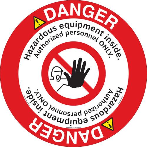 Danger/Hazardous Equipment Floor Marker (FM147-)